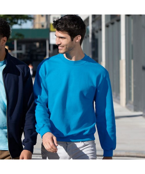 Plain Sweatshirt Premium Cotton Gildan White 302 gsm Cols 309 GSM