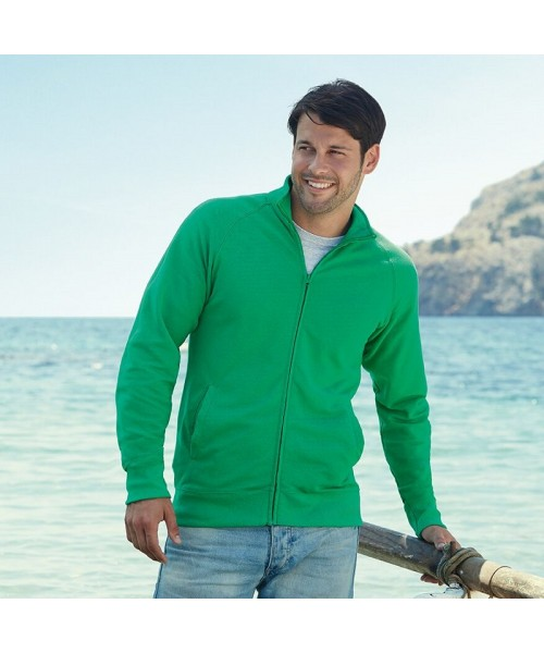 Plain Sweat Jacket Lightweight Fruit Of The Loom 240 GSM