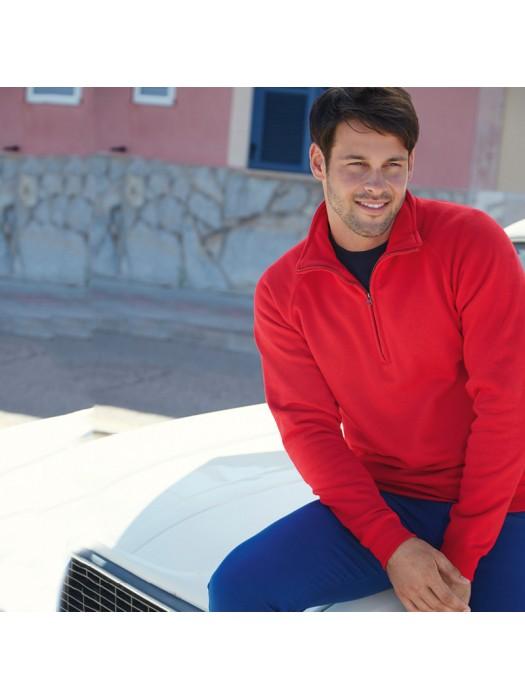 Plain Sweatshirt Premium Zip Neck Fruit Of The Loom 280 GSM