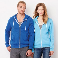Plain Hoodie Unisex Full Zip Bella Canvas 240 GSM