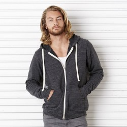 Plain Full Zip Hoodie Unisex Triblend Bella Canvas 280 GSM