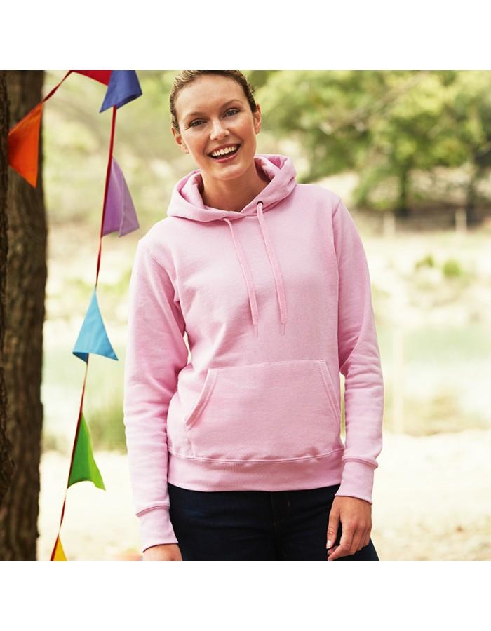 Plain Sweatshirt Lady Fit Hooded Fruit of the Loom 280 GSM
