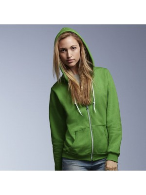 Plain Full Zip Hooded Sweatshirt Ladies Fashion Anvil 280 GSM