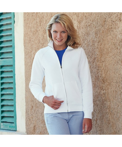 Plain Sweat Jacket Lady Fit Fruit of the Loom 280 GSM