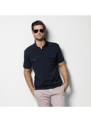 Plain Polo Shirt Pocket Pique Kustom Kit 210 GSM