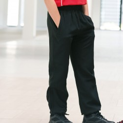 Plain Lined Cuff Microfibre Track Pant Kids Finden and Hales 130 GSM