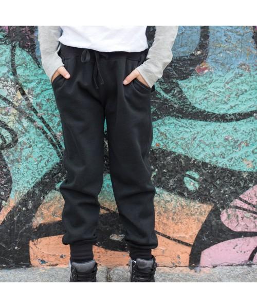 Plain jogger slim cuffed Kids 250 GSM