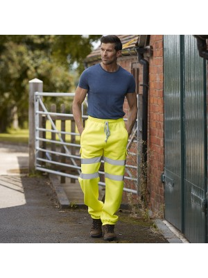Plain jogging pants men's Hi vis 280 GSM