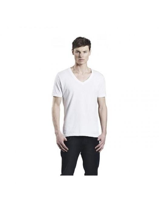 Plain T-Shirt V-Neck  Earth Positive 155g GSM