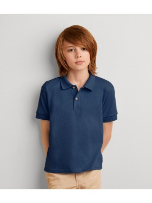 Plain Poly Cotton DryBlend™ Youth Jersey Polo Gildan 180 GSM