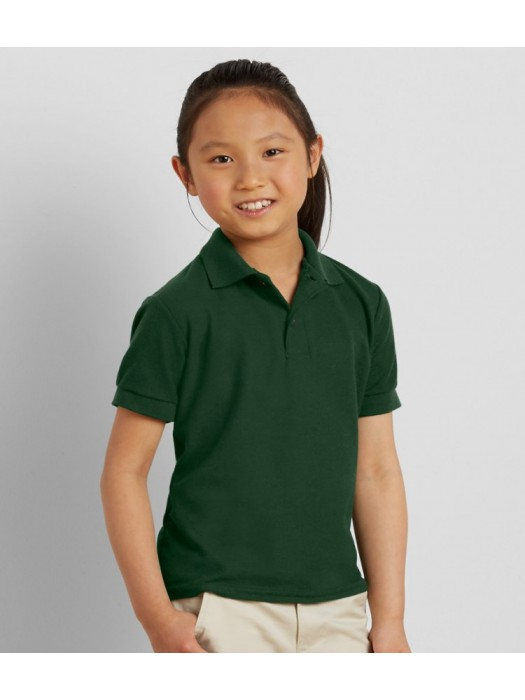 Plain Poly Cotton DryBlend® Youth Double Piqué Polo Gildan 207 GSM