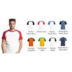 Raglan cotton baseball SHORT sleeve t-shirts - Stars & Stripes