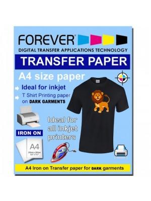 A4 InkJet Transfer Paper DARK Garment Forever brand