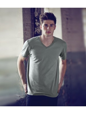 Plain T-Shirt V Neck Anvil 150 gsm