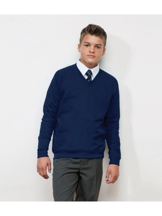 Kids Plain Sweatshirt V Neck AWDis Academy 280 gsm GSM
