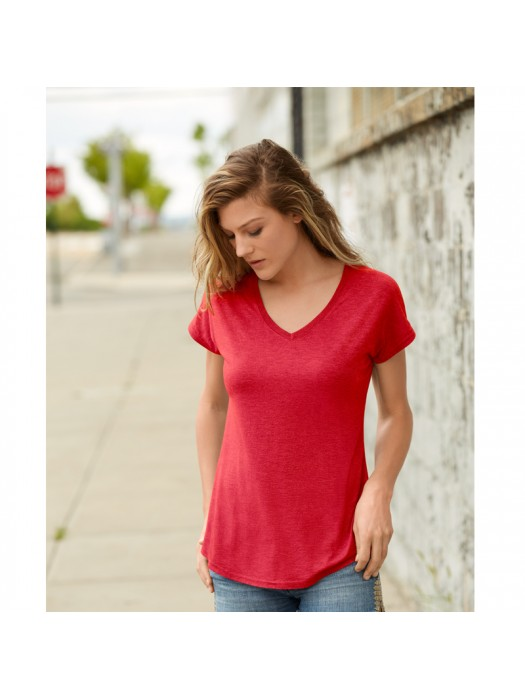 Anvil women's  v-neck tshirt