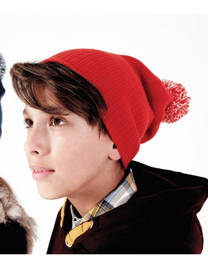 Beanie Kids Snowstar Duo Beechfield Headwear