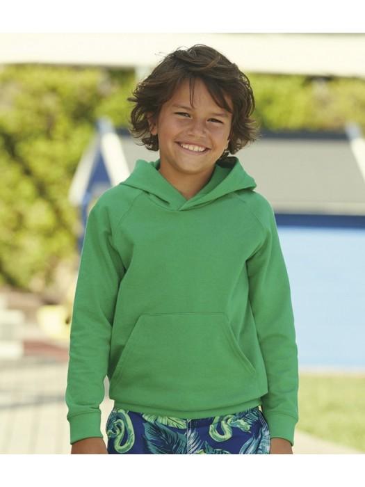 Kids Plain Sweatshirt Hooded Fruit of the Loom 240 gsm GSM