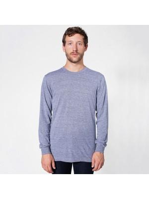 Long Sleeve Unisex Ribbed Neckline T-shirt