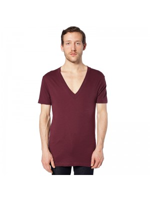 Unisex Deep V-Neck jersey short sleeve