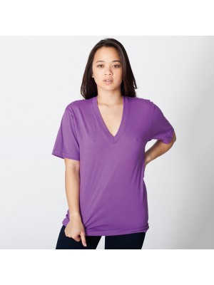 Jersey short sleeve v-neck tshirt