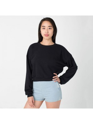 Black California fleece cropped sweatshirt