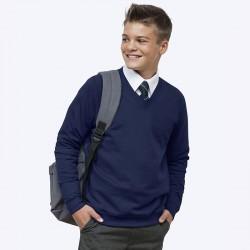 Plain Academy v-neck sweatshirt AWDis Academy 280 GSM
