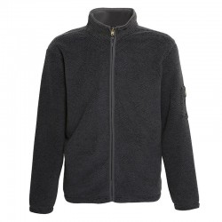Plain Hamish - Jacquard jacket with bonded microfleece AFFORDABLE FASHION 400 GSM