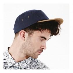 Cap Suede peak 5 panel Beechfield Headwear