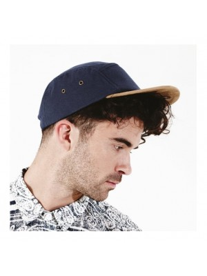 Cap Suede peak 5 panel Beechfield Headwear