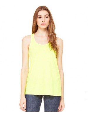 Ladies Neon Yellow Racerback tank top
