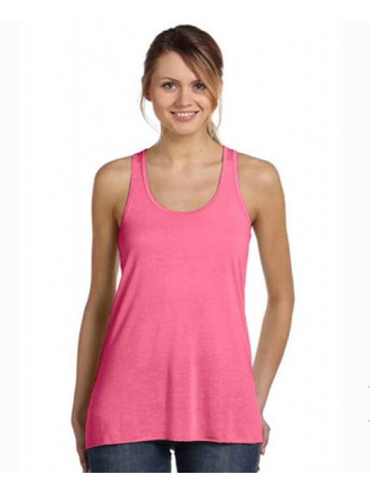 Ladies Neon Pink Racerback tank top