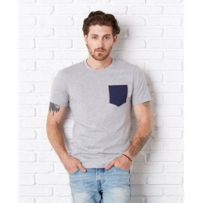 Bella Canvas Jersey short sleve pocket t-shirt