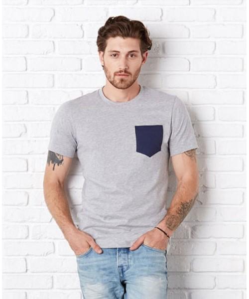 Bella Canvas Jersey short sleve pocket t-shirt