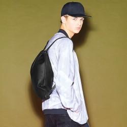 Plain Faux leather gymsac BAG BAG BASE 580 GSM