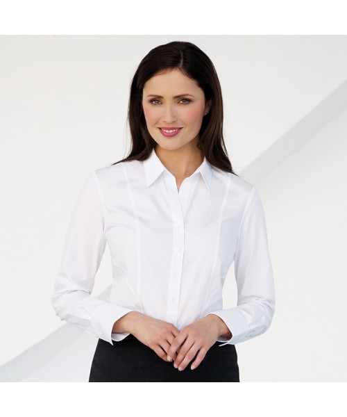 Plain Palena - Long Sleeve Womens  Blouse BROOK TAVERNER 115 GSM