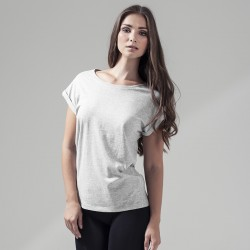 Plain Women's extended shoulder tee Build Your Brand 140 GSM