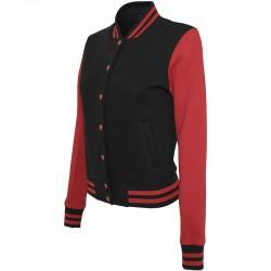 Plain Women's sweat college jacket Build Your Brand 320 GSM