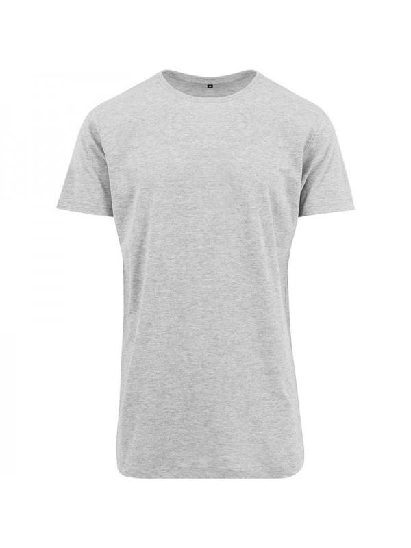 Plain shaped long tee build your brand 140 gsm for Plain t shirt brands