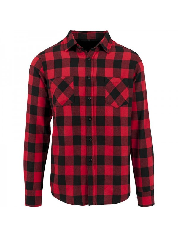 Plain checked flannel shirt build your brand 120 gsm for Plain t shirt brands
