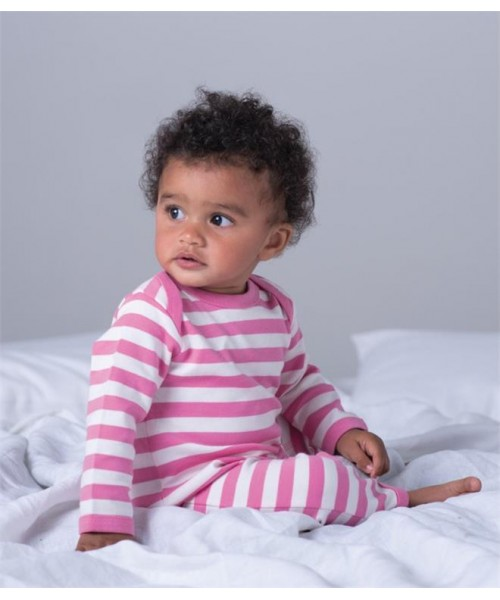 Plain BABY STRIPY ROMPERSUIT BABYBUGZ 200 GSM