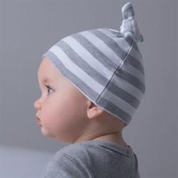 Plain BABY STRIPY KNOTTED HAT BABYBUGZ 200 GSM