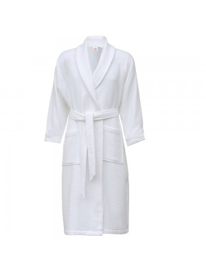 SnS 100% cotton waffle shawl collar bathrobe
