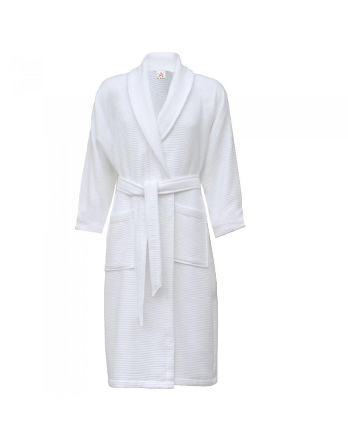 SnS 100% cotton waffle shawl collar bathrobe