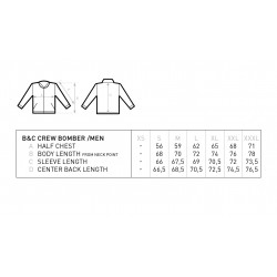 B&C Crewneck Bomber Jacket with mesh linning