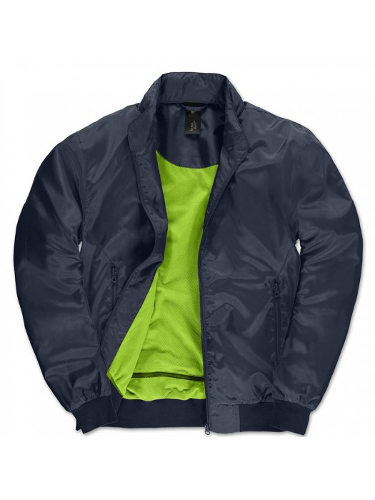 Navy/Neon Green Linning B&C Trooper Bomber Jacket
