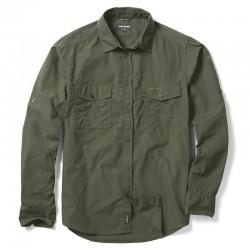 Plain Kiwi Long Sleeved Shirt Craghoppers 115 GSM