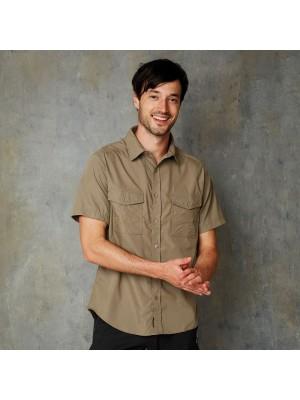 Plain Kiwi Short Sleeved Shirt Craghoppers 115 GSM