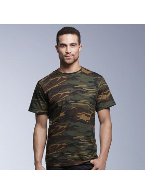 Anvil Heavy Green Camouflage tee