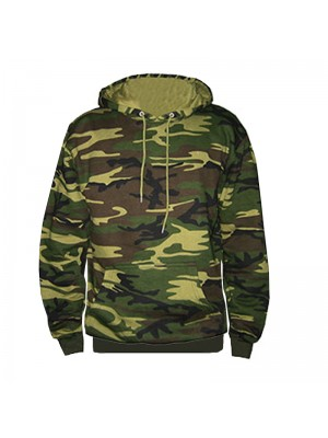 Army Camouflage SnS Pullover Hooded Sweatshirt - Stars & Stripes